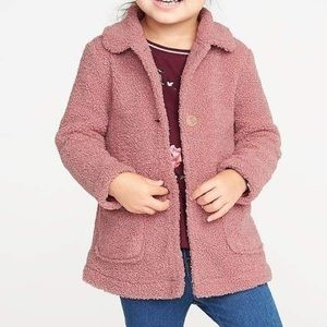 Toddler girl's Old navy Sherpa coat new